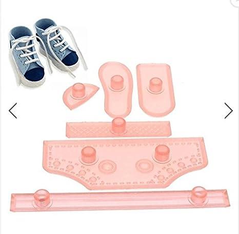 Shina 6pcs Plástico Baby High Cut de zapatilla de fondant de tarta forma de herramientas para DIY de cumpleaños de tarta azúcar aptitud Decorar: Amazon.es: ...
