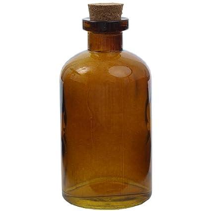 8 oz oscuro ámbar Botella De Cristal, diseño de botica nuevo