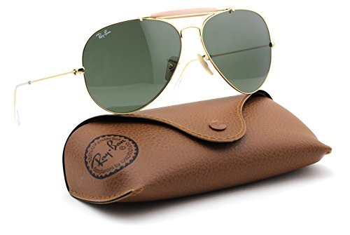 Ray-Ban RB3029 L2112 OUTDOORSMAN Gold Frame / Green Lens - Ray Rb3029 Ban