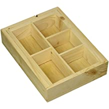 Make Up Cosmetic Organizer Expandable drawer divider tray for Bathroom storage, Natural Wood