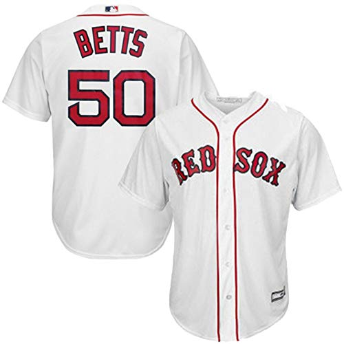 Mookie Betts Boston Red Sox Cool Base Player Jersey #50- White L