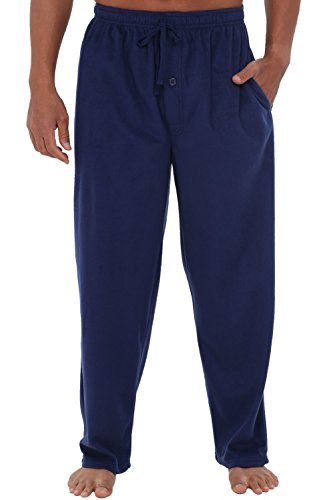 Recovery Lounge (Alexander Del Rossa Mens Fleece Pajama Pants, Long Microfiber Pj Bottoms, XL Midnight Blue (A0328MBLXL))