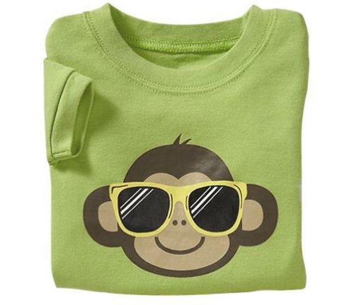 LaLaMa Little Boys' Monkey Short Sleeve Pajama Sleepwear Sets 2-7 Y