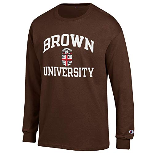 Elite Fan Shop Brown University Bears Long Sleeve Tshirt - L
