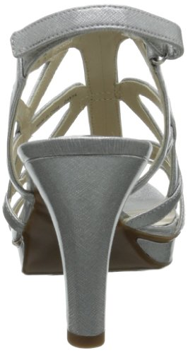 Naturalizer Women's Danya Dress Sandal Silver Crosshatch sale how much B4NOKYzgUe