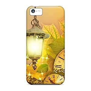 Special Design Back Fall Flowers Time Phone Case Cover For Iphone 5c