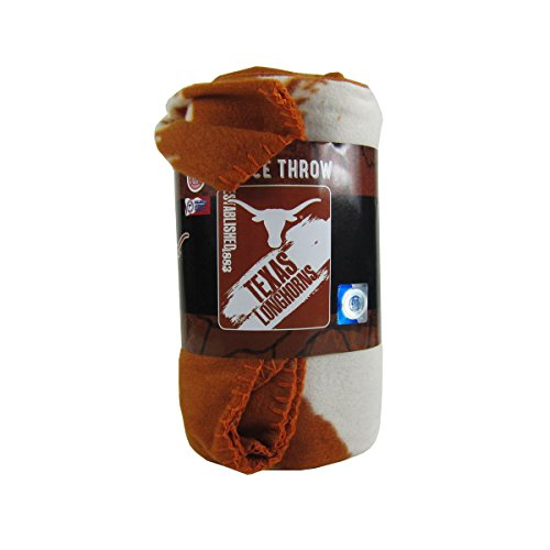 (The Northwest Company Officially Licensed NCAA Painted Fleece Throw Blanket - Texas Longhorns)