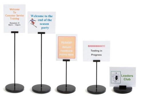 Convertible Desktop Sign Holder - extends up to 2 feet