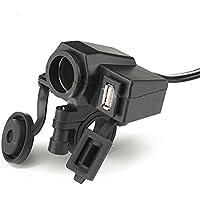 UXOXAS 12V Motorcle Waterproof Cigarette power One Machine Power Charging
