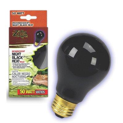 Zilla Night Black Heat Incandescent Bulb for Reptiles [Set of 2] Watt: 75 Watts