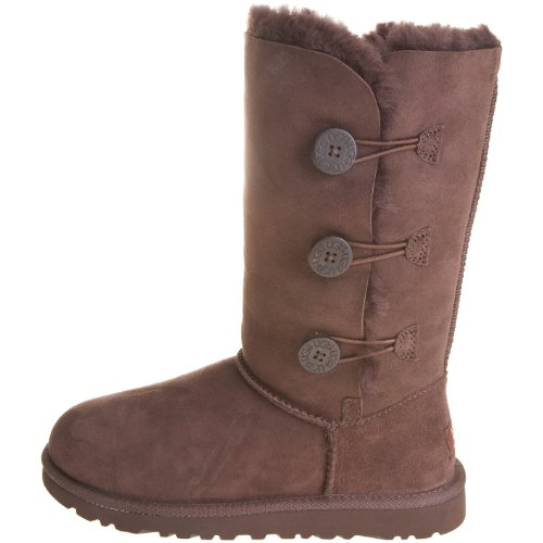 Kid's UGG Bailey Button Triplet,Chocolate,size 1 by UGG (Image #5)