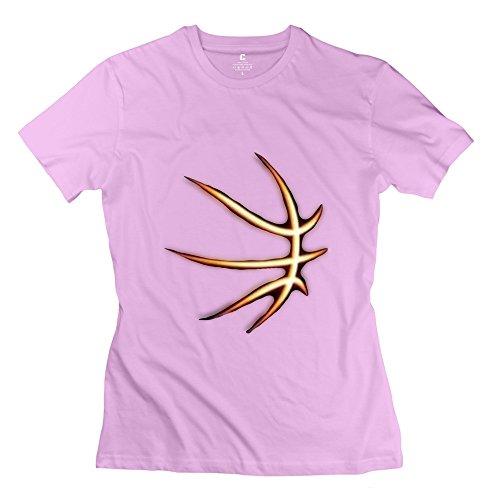 Custom Women's T-shirt Funny NBA Basketball Curry Golden State Warriors Size XS Pink