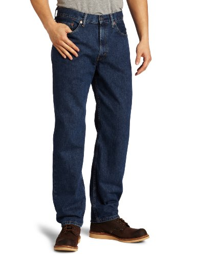 Levi's Men's 550 Relaxed Fit Jean, Dark Stonewash, 42x32 (Dark Blue Levis)