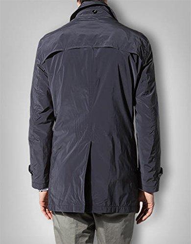 RENÉ LEZARD Herren Mantel Mikrofaser Warme Jacke Unifarben, Größe: 54, Farbe: Blau