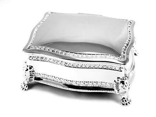 Skyway Sophia Jewelry Box Trinket Storage Holder Silver - Engravable