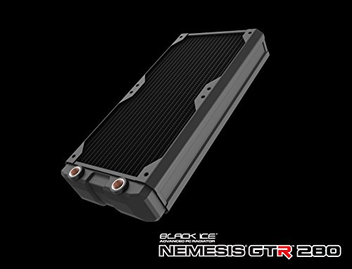 Hardware Labs Black Ice Nemesis GTR Black Carbon Radiator - 280mm by Black Ice