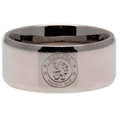 Chelsea FC Small Band Ring (One Size) (Silver) ()