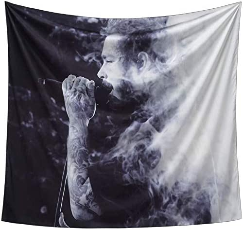 Post Malone Tapestry, Post Malone Poster 3D Boutique Art Tapestry Wall Hanging Pop Art Wall Tapestry Home Decorations for Living Room Bedroom Dorm Decor (59.1 x 51.2 inches)