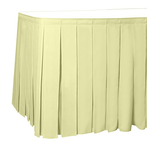 Polyester Box Pleat Table - Ultimate Textile 7 ft. Box Pleat Polyester Table Skirt - 36