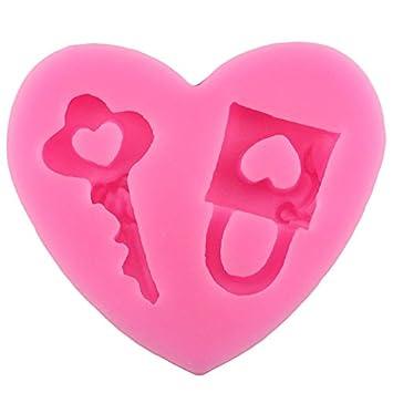 JUNGEN® Molde de silicona para pastel Forma de Corazón moldes para hornear Decoracion Tartas Pasteles DIY jabón moldes: Amazon.es: Hogar