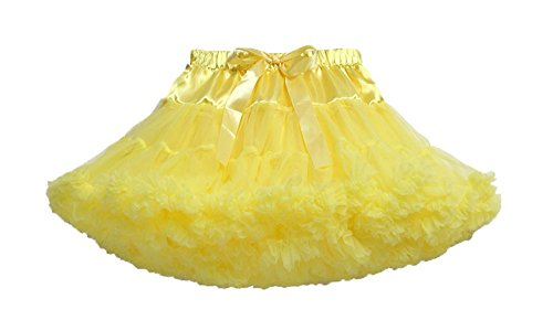 niceeshop(TM) Girl's Ballet Dress-Up Fairy Tutu Skirt (Yellow, XS, 0-1 Years Old)