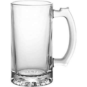 Heavy Duty Tall Glass Beverage Mug (Pack of 2)