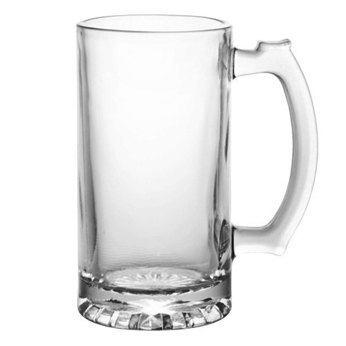 Heavy Duty Tall Glass Beverage Mug (Pack of 2) SYNCHKG067511