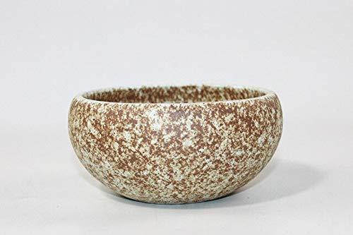 (Bowl Planter - Japanese Style Vintage Coarse Pottery Bowls Hydroponics Flowerpot Vase Ceramic Containers Planter Zen Flower Arrangement Basin)