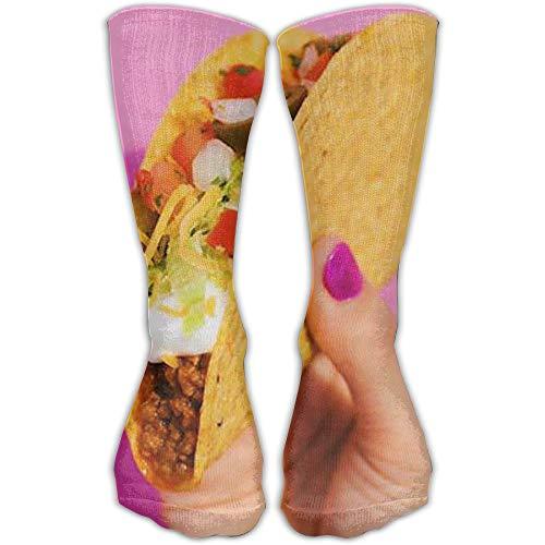 YUANSHAN Socks Taco Keep On Women & Men Socks Soccer Sock Sport Tube Stockings Length 11.8Inch]()