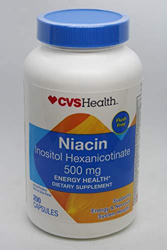 CVS Health Flush Free Niacin Capsules 500mg, 200 Capsules
