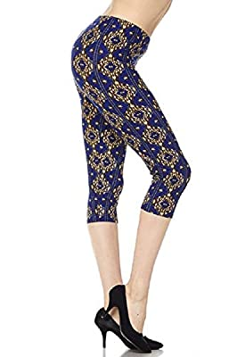 New Mix Woman Super Soft and Cute Woman Super Soft and Cute Popular Print Capri Leggings