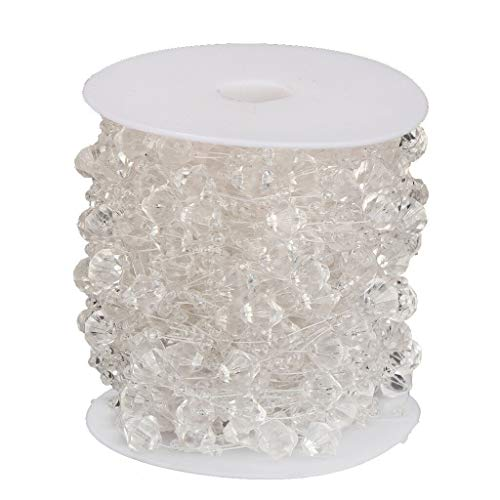 90ft Clear Crystal Bead Roll String Garland for Festival Wedding Party Decor