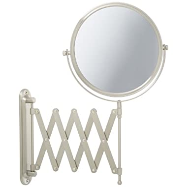 Jerdon JP2027N 8-Inch Wall Mount Makeup Mirror with 7x Magnification, Nickel Finish