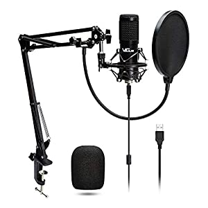 USB Microphone Kit VG016 Condenser Recording Mic kit 192kHZ/24bit with Professional Sound Chipse for Podcast, Game, YouTube, Recording, PC Karaoke