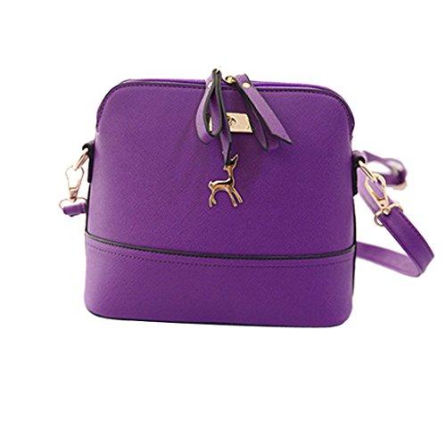 Voberry Purple Message Zipper Shoulder Tote Clutch Handbag Women's Crossbody Bag rqCBwRxrza