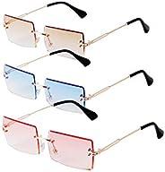SORVINO Rectangle Sunglasses for Women Men 90s Vintage Retro Sunglasses Square Frame