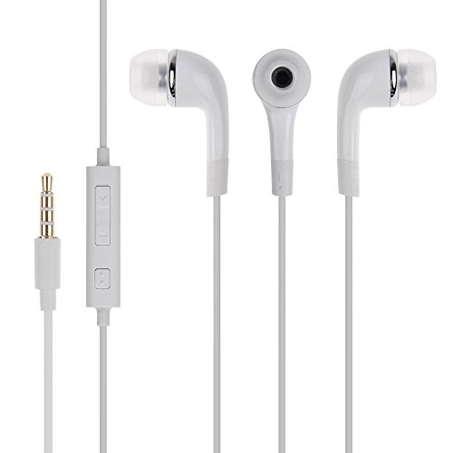 STARKWOOOD In Ear Headphone with Mic 3.5 mm Jack for Samsung Galaxy A9 Pro, 2016  White