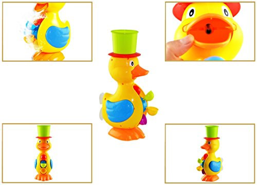Fun Bath Toys For Boys : Funerica interactive large yellow duck bath toy for