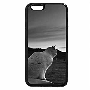 iPhone 6S Plus Case, iPhone 6 Plus Case (Black & White) - Lucky Kitty