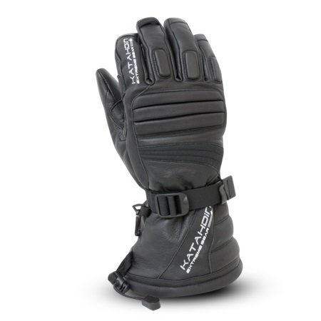 Katahdin Gear Torque Leather Snowmobile Gloves Black Adult Size ()