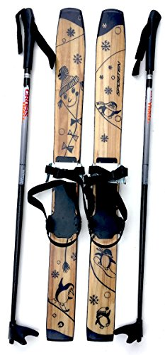 sporten First Step XC Skis for Kids with Adjustable Bindings 80cm w. Poles by sporten