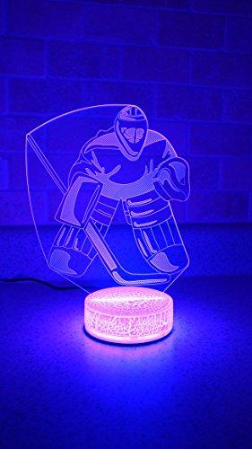 Goalie Hockey Player 3D Night Light 7 Color LED ()