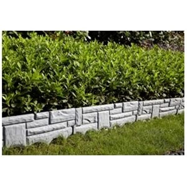 INTERHOME Borde LIMITADOR para Jardin - Piedra - 2.3 m: Amazon.es: Jardín