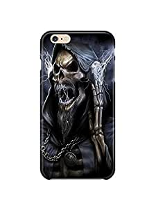 "ip60586 Rockn'Roll Skull Glossy Case Cover For Iphone 6 (4.7"") by mcsharks"