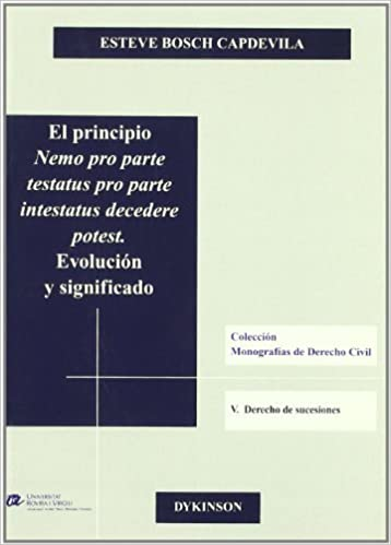 Book El Principio Nemo Pro Parte Testatus Pro Parte Int (Spanish Edition) by Unknown (2008-04-02)