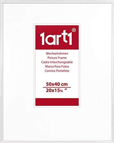 1art1 Pok/émon Mini Poster et Cadre 50 x 40cm MDF - Mewtwo Neon