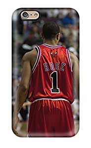 Stacey E. Parks's Shop Christmas Gifts sports nba basketball backview derrick rose depth of field chicago bulls NBA Sports & Colleges colorful iPhone 6 cases 9027220K206472161