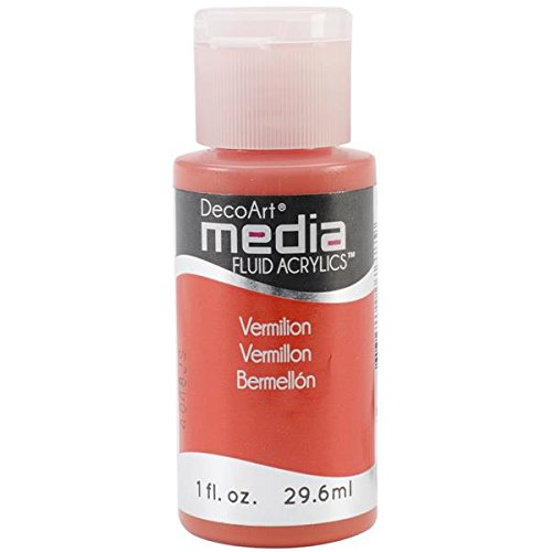 Media Fluid Acrylic 1 Ounce Vermillion
