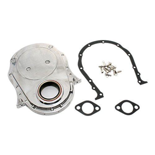 Assault Racing Products A8422BOX Big Block Chevy Polished Aluminum Timing Chain Cover Kit '66-'90 BBC 396 427 ()