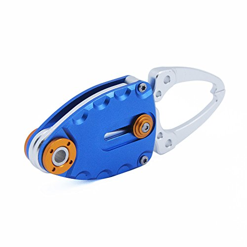 - Acekit Portable Light Weight Fish Style Aluminium Alloy Fishing Plier For Fishing Hooks Lure Removing Mini Size For Keychain-Blue